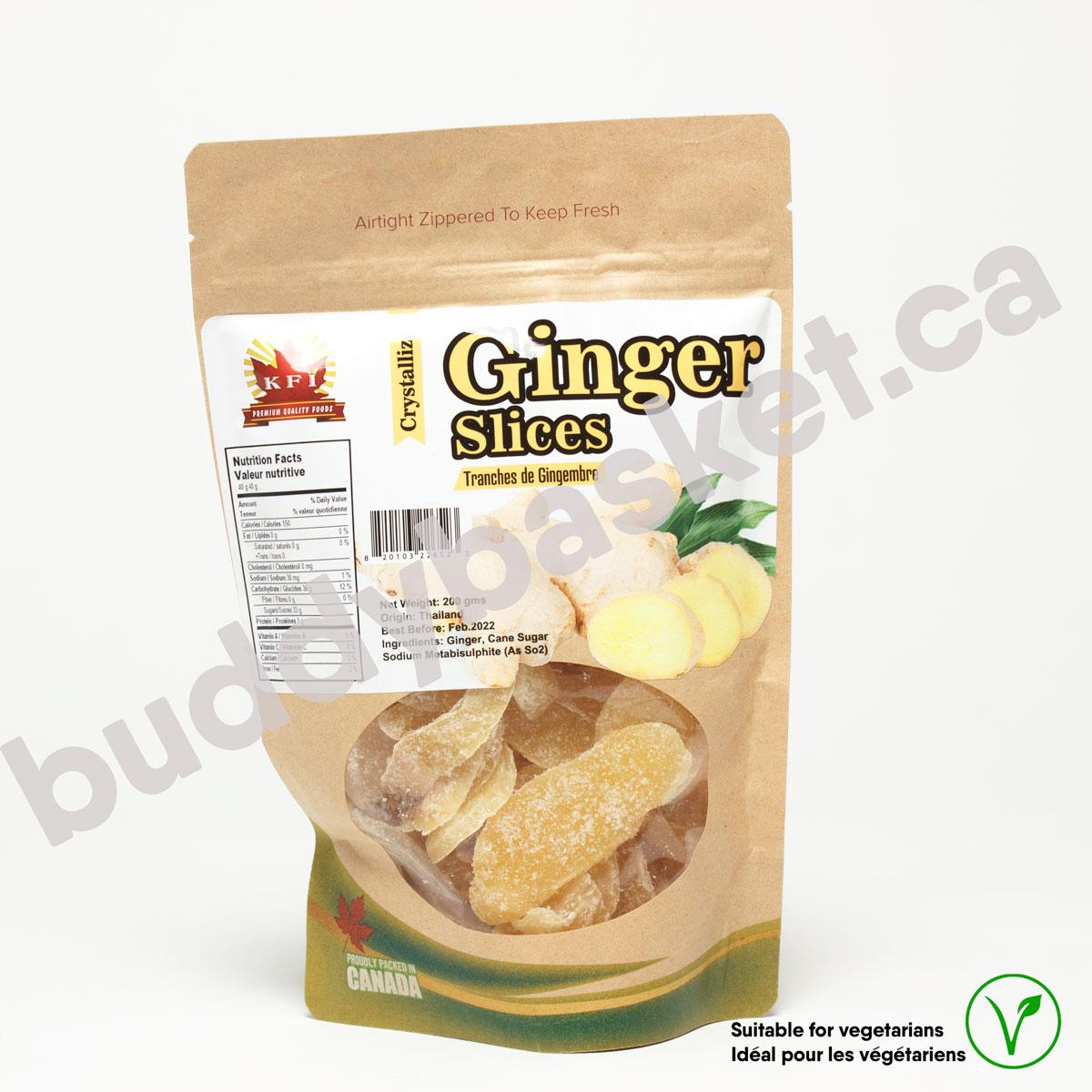 KFI Ginger Slices 200g