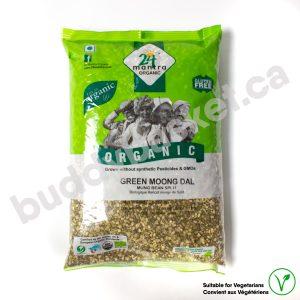 24 Mantra Organic Green Moong Dal Split 2lb