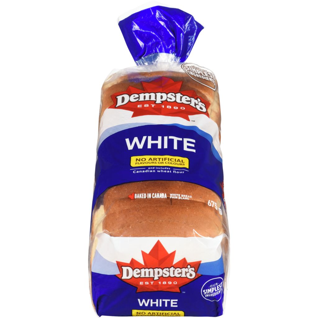 Dempsters Roundtop Bread plain 675g
