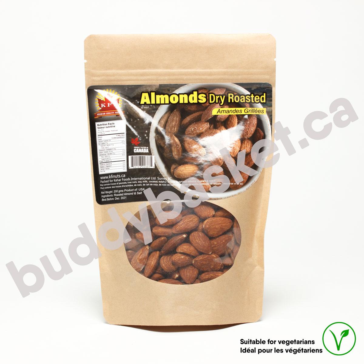 KFI Almond Roasted Salted 200g