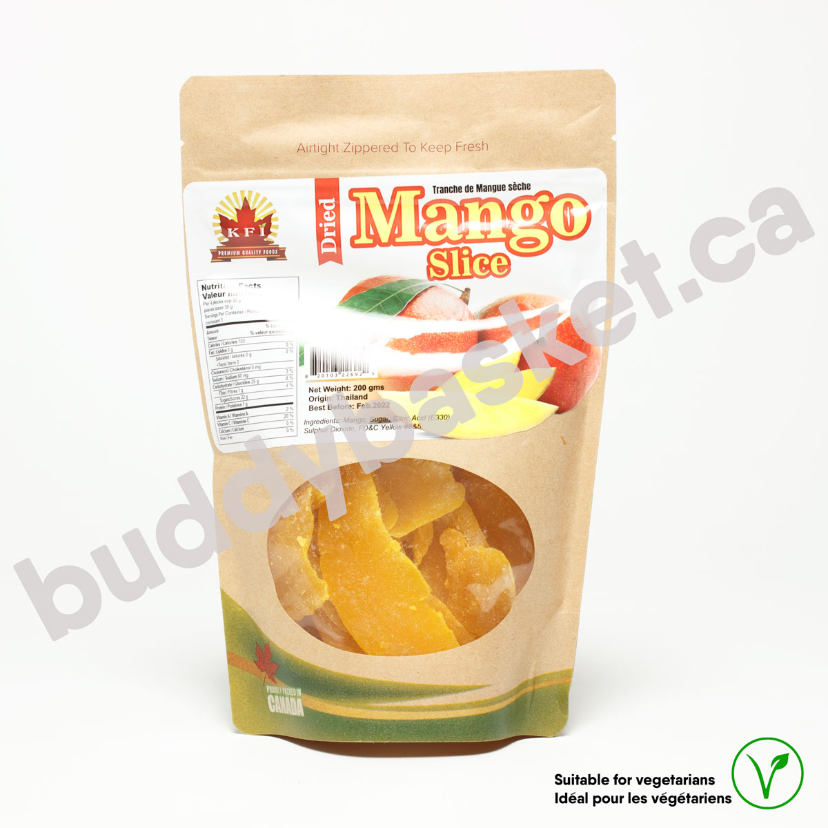 KFI Dry Mango Slices 200g