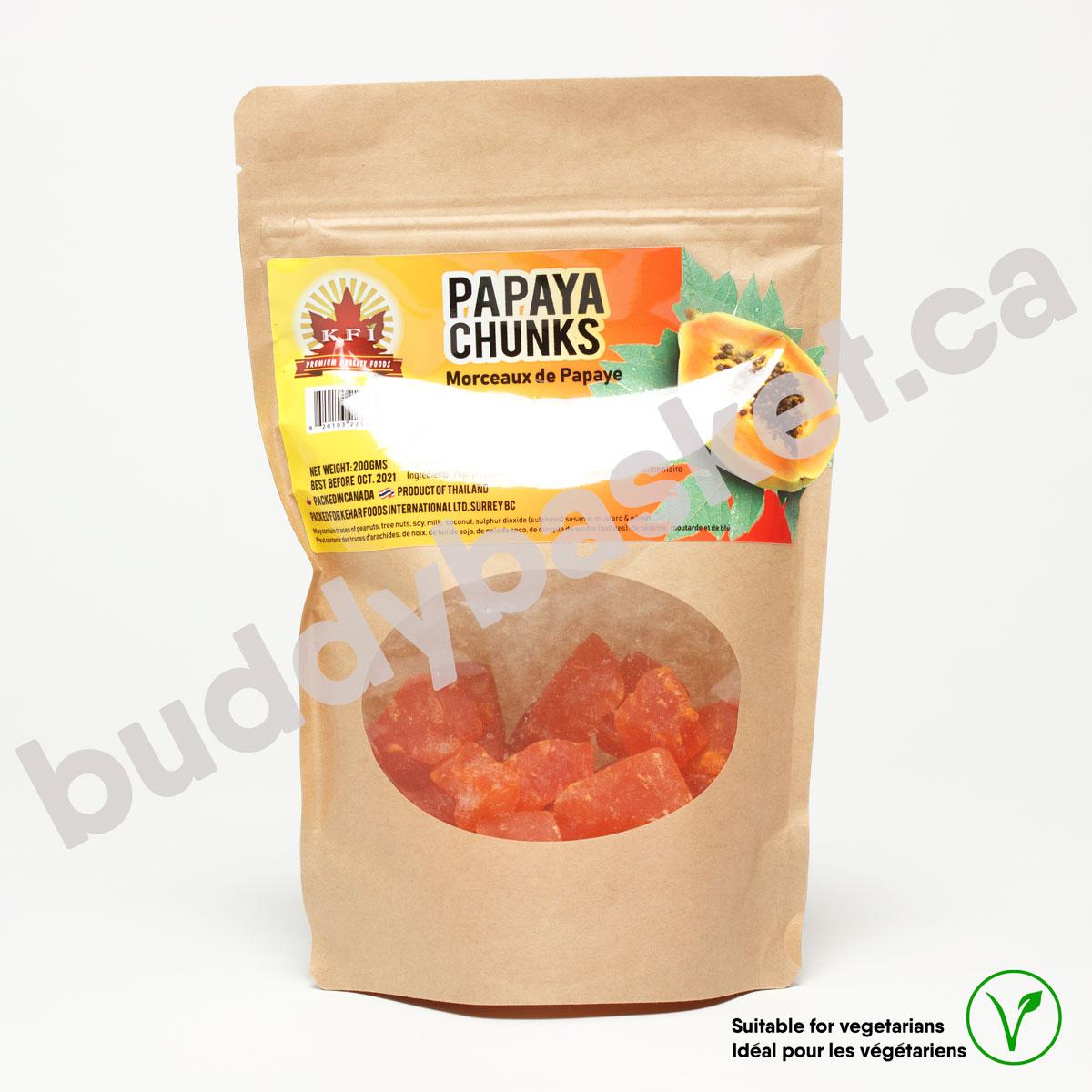 KFI Papaya Chunks 200g