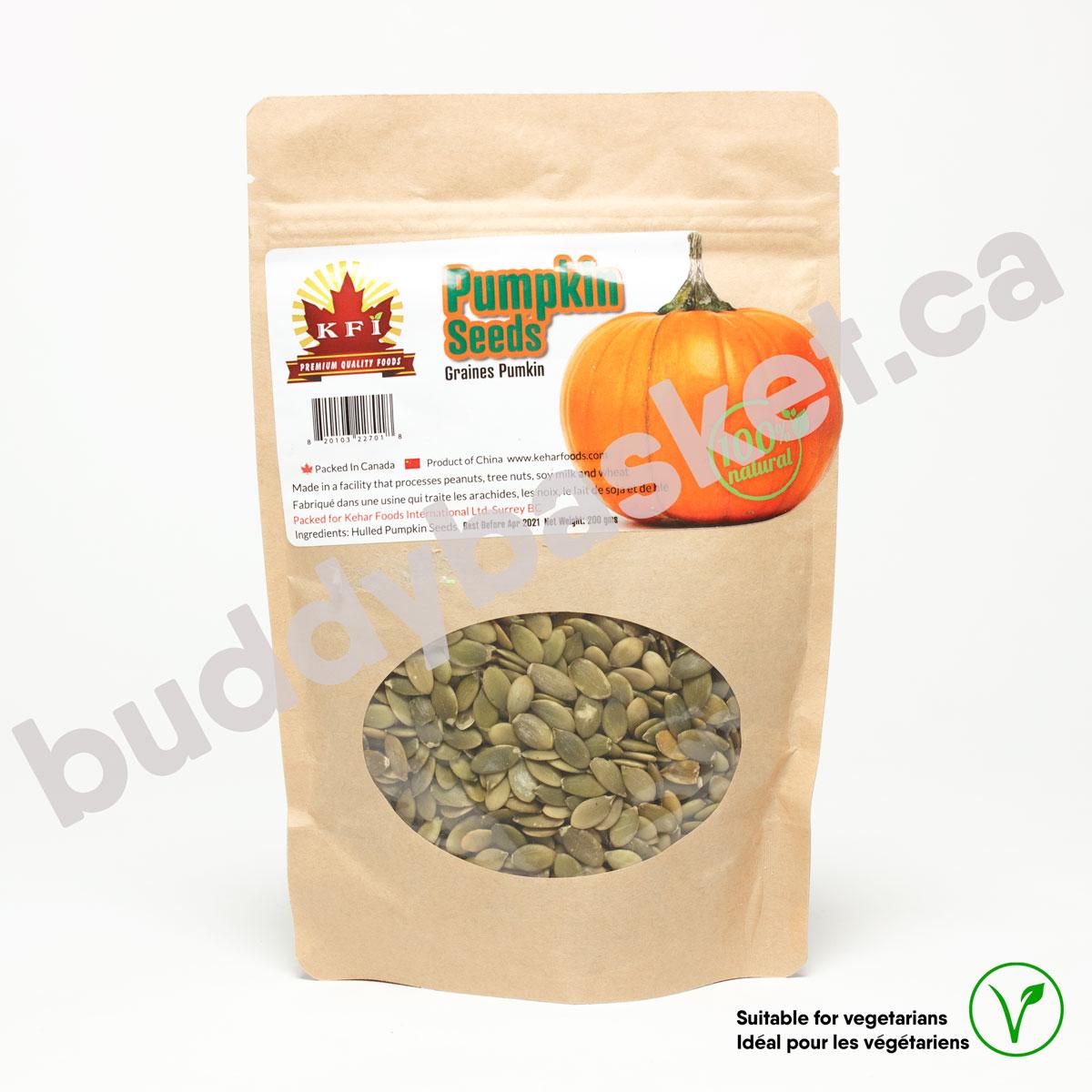 KFI Pumpkin Seeds Raw 200g