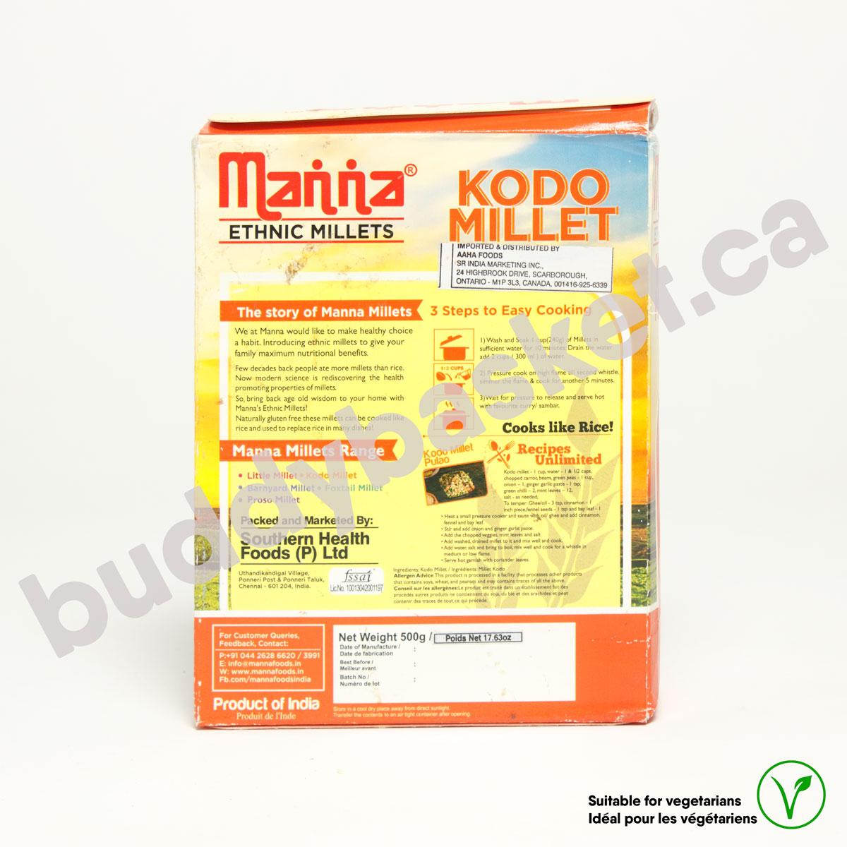 Manna Kodo Millet (Varagu) 500g