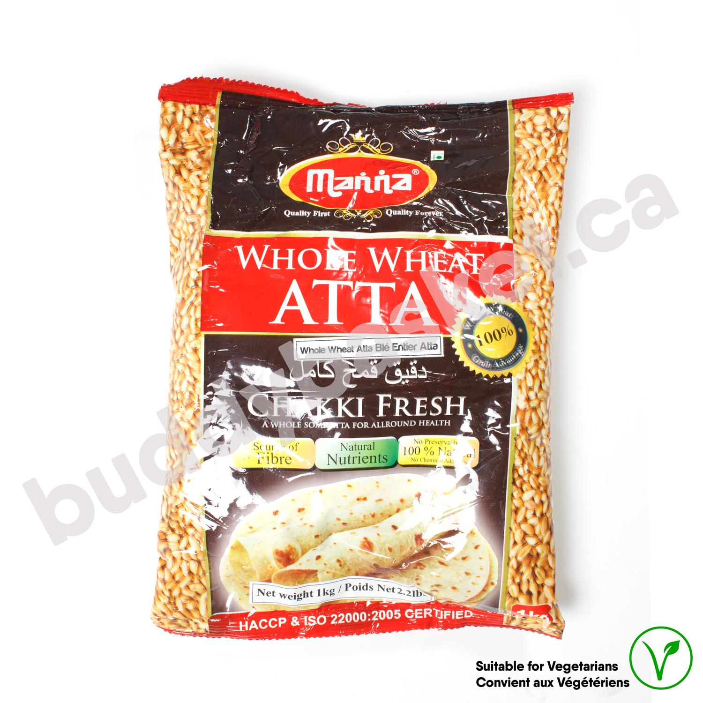 Manna Whole Wheat Atta 1kg