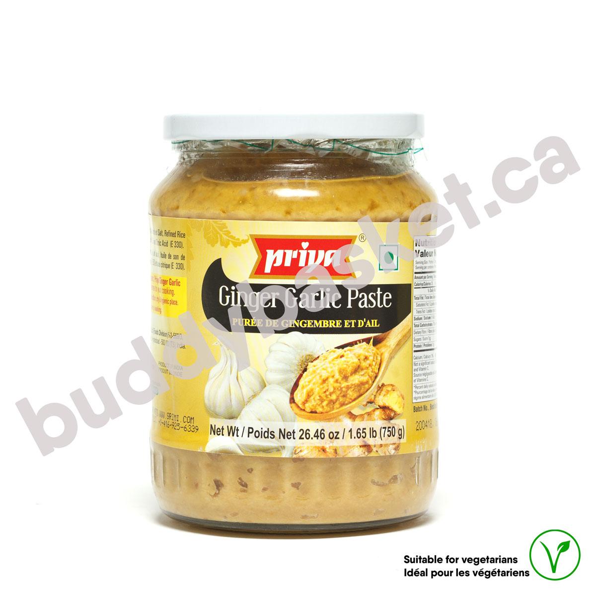 Priya Ginger Garlic Paste 750g