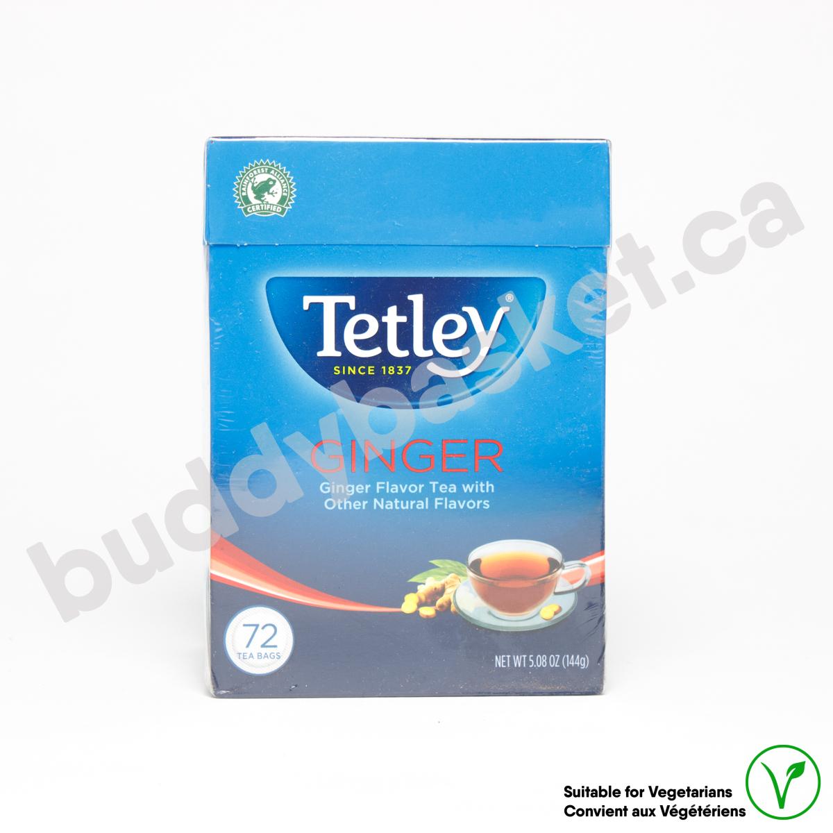 Tetley Ginger 72 tea bags 144g