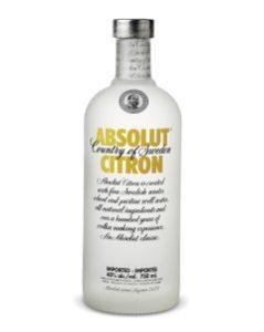Absolut Citron Vodka 750ml