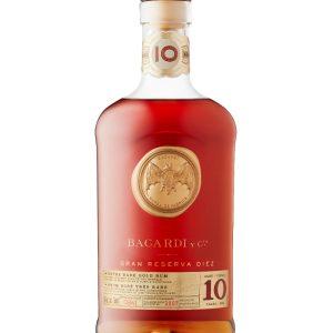 Bacardi 10 Year Old Gran Reserva Gold Rum 750ml