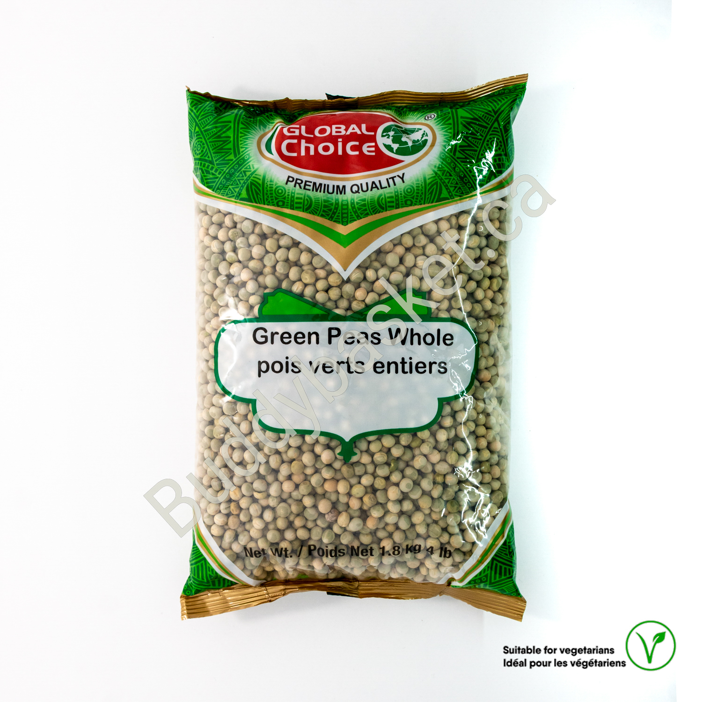 Global choice green peas whole 4LB