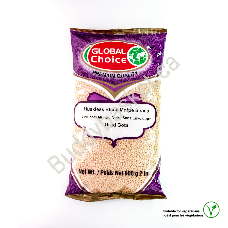 Global choice huskless black matpe beans 2LB
