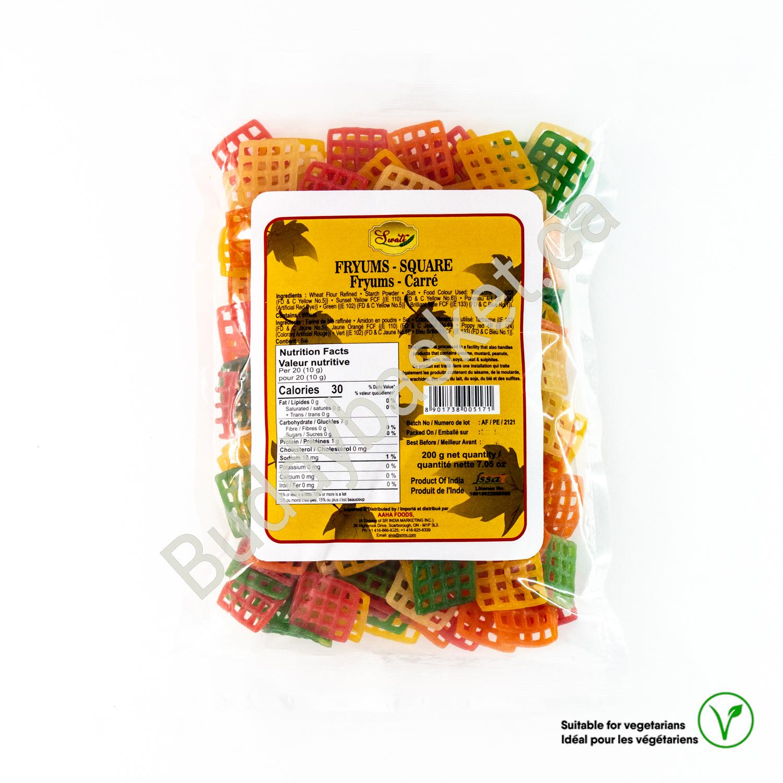Swati fryrums square 200g
